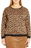 City Chic Plus Size Women's 'Leopard Lover' Pullover