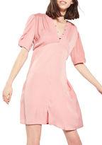 Topshop Jacquard Spot Mini Tea Dress
