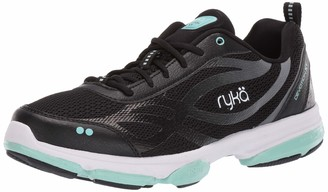 Ryka Women's Devotion XT Cross Trainer Black/Mint 6 W US