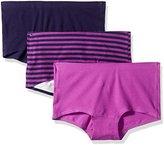 Hanes Women's 3 Pack Ultimate Smooth Tec Boyshort Panties 49st