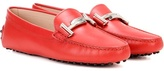 Tod's Gommini Double T Suede Loafers