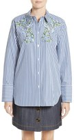 ADAM by Adam Lippes Floral Embroidered Shirt