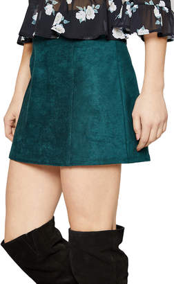 Sadie & Sage Beat Goes On Suede Mini Skirt
