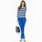 Ralph Lauren Striped Cotton Boatneck Top