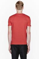 Alexander McQueen Red Floral Skull Crewneck T-Shirt