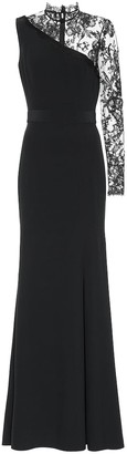Alexander McQueen Lace-trimmed crepe gown