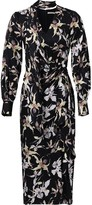 Thumbnail for your product : Jason Wu Collection Silk Satin Jacquard Long Sleeve Dress