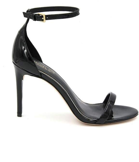 Rachel Zoe | Ema Patent Leather Heeled Sandals | 6.5 us | Black