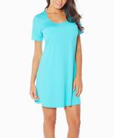 Aqua Butterknit Nightgown - Plus Too