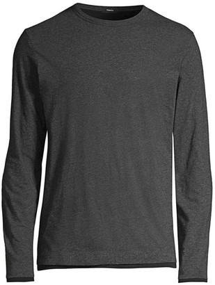 Theory Long-Sleeve Pima Cotton Double T-Shirt