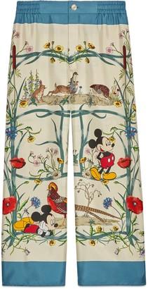 Gucci Disney x silk pajama pant