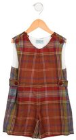 Papo d'Anjo Boys' Plaid Wool All-In-One