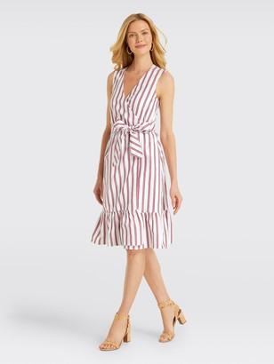 Draper James Stripe Faux Wrap Tank Dress*