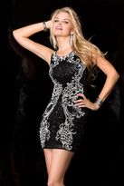 Scala 48614 Dress In Black And White