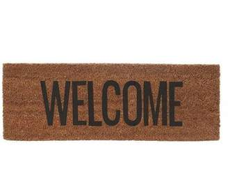 The Living Lounge - Narrow coir Welcome doormat- Black & Natural - natural   Coir - Natural/Natural