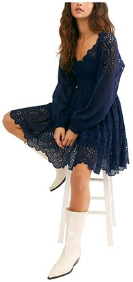 Free People Lottie Dress (Navy) Women's Clothing