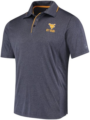Colosseum Men's Heathered Navy West Virginia Mountaineers Maestro Polo