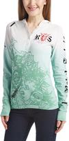 Rebel Spirit Mint Embellished-Cross Hooded Henley - Women