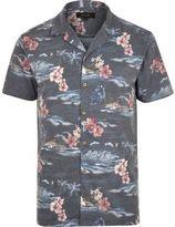 River Island MensNavy Hawaiian print polo shirt