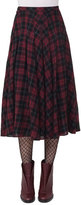Akris Punto Glen Plaid Midi Skirt