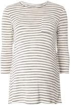 Dorothy Perkins **Maternity Ivory And Grey Stripe T-Shirt