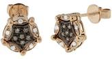 Effy Jewelry Diversa 14K Rose Gold Cognac & White Diamond Earrings