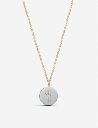 THE ALKEMISTRY Noush 14ct and diamond cross necklace