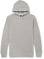 Beams Waffle-knit Cotton-jersey Hoodie - Gray