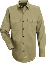 JCPenney Red Kap Deluxe Heavyweight Cotton Shirt-Big & Tall