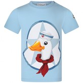 Moncler MonclerBaby Boys Blue Duck Print Top