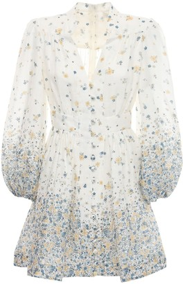 Zimmermann Carnaby Scalloped Linen Mini Dress