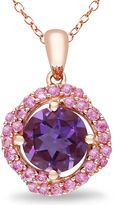 JCPenney FINE JEWELRY Genuine Amethyst and Pink Sapphire Pendant Necklace