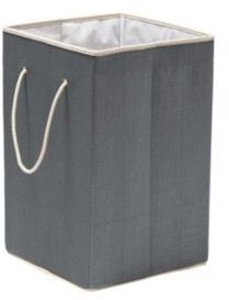 Honey-Can-Do Resin Clothes Hamper, Gray