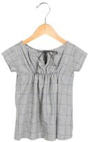 Makie Girls' Plaid Ruched Dress