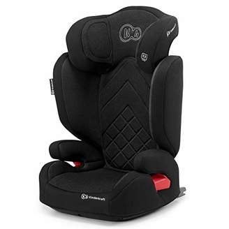 Kurt Geiger Kinderkraft Car Seat XPAND, Booster Child Seat, with Isofix, Adjustable Headrest, Side Protection, for Toddlers, Infant, Group 2/3, 15-36 Kg, Up to 12 Years, Safety Certificate Intertek, Red