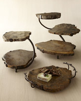 Janice Minor Petrified Wood Two-Tier Server
