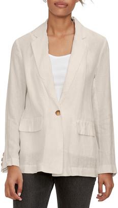 Michael Stars Lottie Single-Breasted Linen Blazer