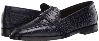 Etro Stamped Croc Loafer (Navy) Men's Shoes