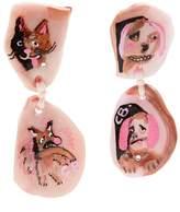 CLAIRE BARROW Dog Face-drop clip-on earrings