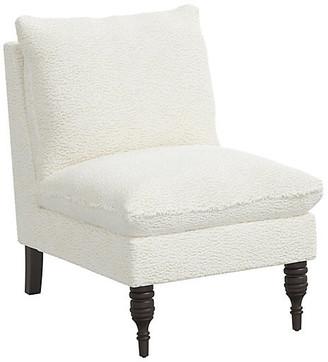One Kings Lane Daphne Slipper Chair - Sheepskin Ivory