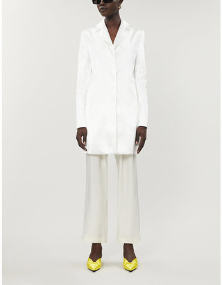 Kwaidan Editions Notch-lapel satin-crepe jacket