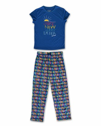 Joe Boxer Girls Blue Surf Tee and Pant Set