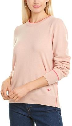 Tory Burch Contrast Trim Cashmere Sweater