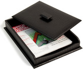 Bey-Berk Bey Berk Croco Leather Letter Tray With Cover