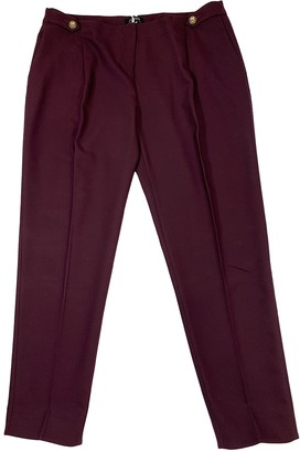 Max & Co. Burgundy Trousers for Women