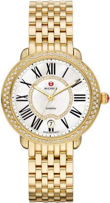 Michele 36mm Serein 16 Mid Gold Diamond Watch