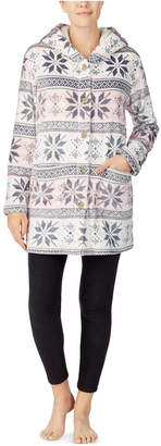 Cuddl Duds Plush Button-Front Hooded Cardigan