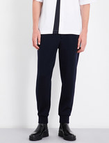 Marni Contrast-panel wool-blend jogging bottoms