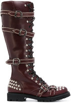 Christian Pellizzari studded buckle boots