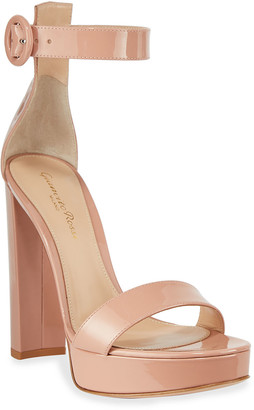 Gianvito Rossi Patent Platform 100mm Sandals